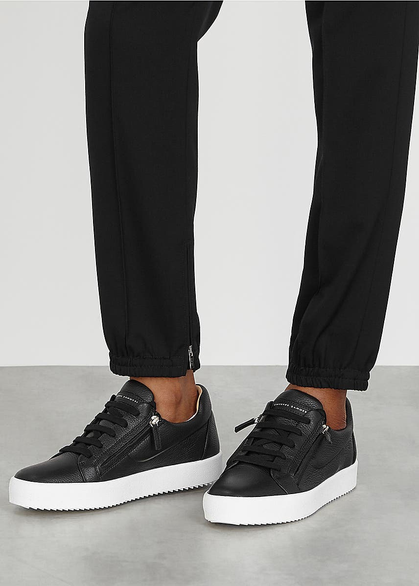 1bec831969ed9 May Arena black grained leather sneakers May Arena black grained leather  sneakers