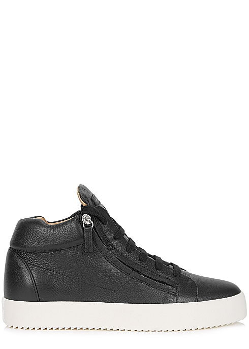 4479edb9ec031 Giuseppe Zanotti May black leather hi-top sneakers - Harvey Nichols