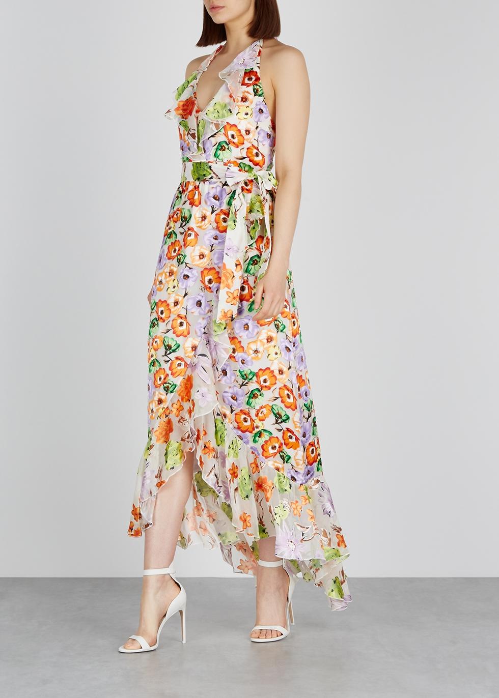 Evelia floral devoré maxi dress - Alice + Olivia
