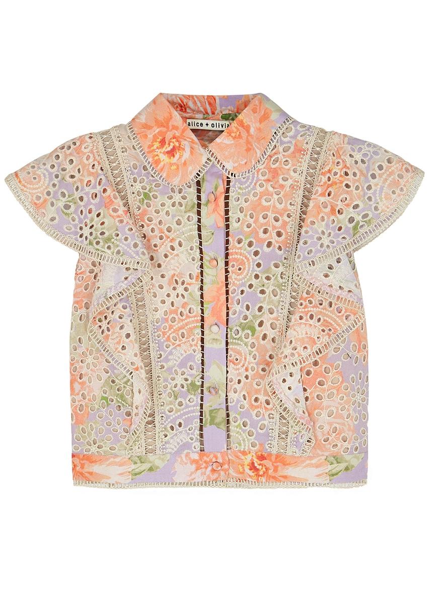 a637cde0c5223f Cavan floral-print blouse Cavan floral-print blouse. New Season. Alice +  Olivia. Cavan floral-print blouse. £360.00 · Prija red cropped silk ...