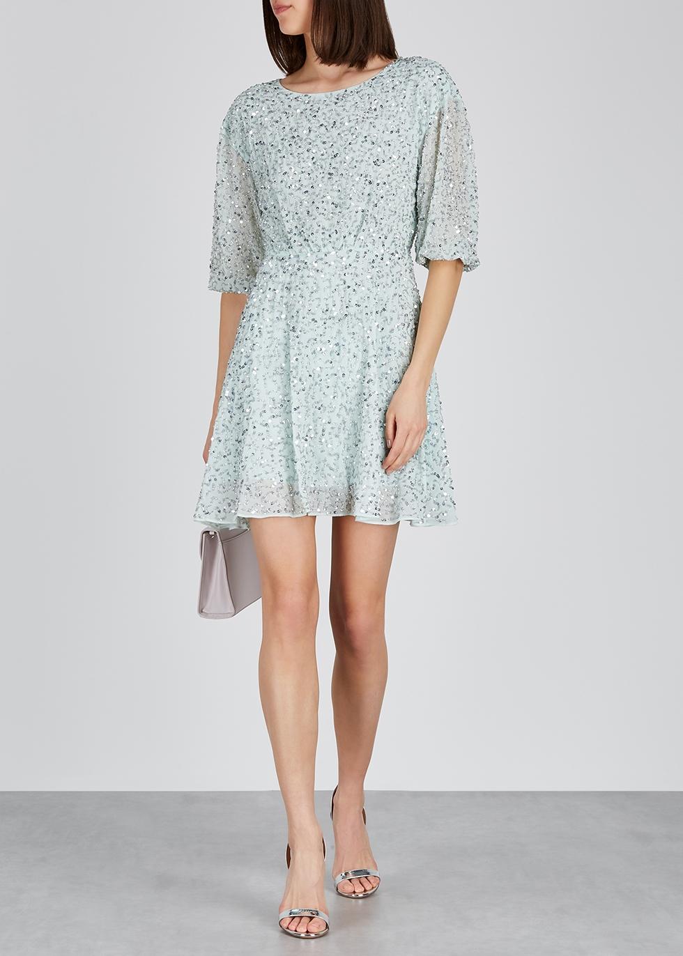 Palmira embellished chiffon mini dress - Alice + Olivia