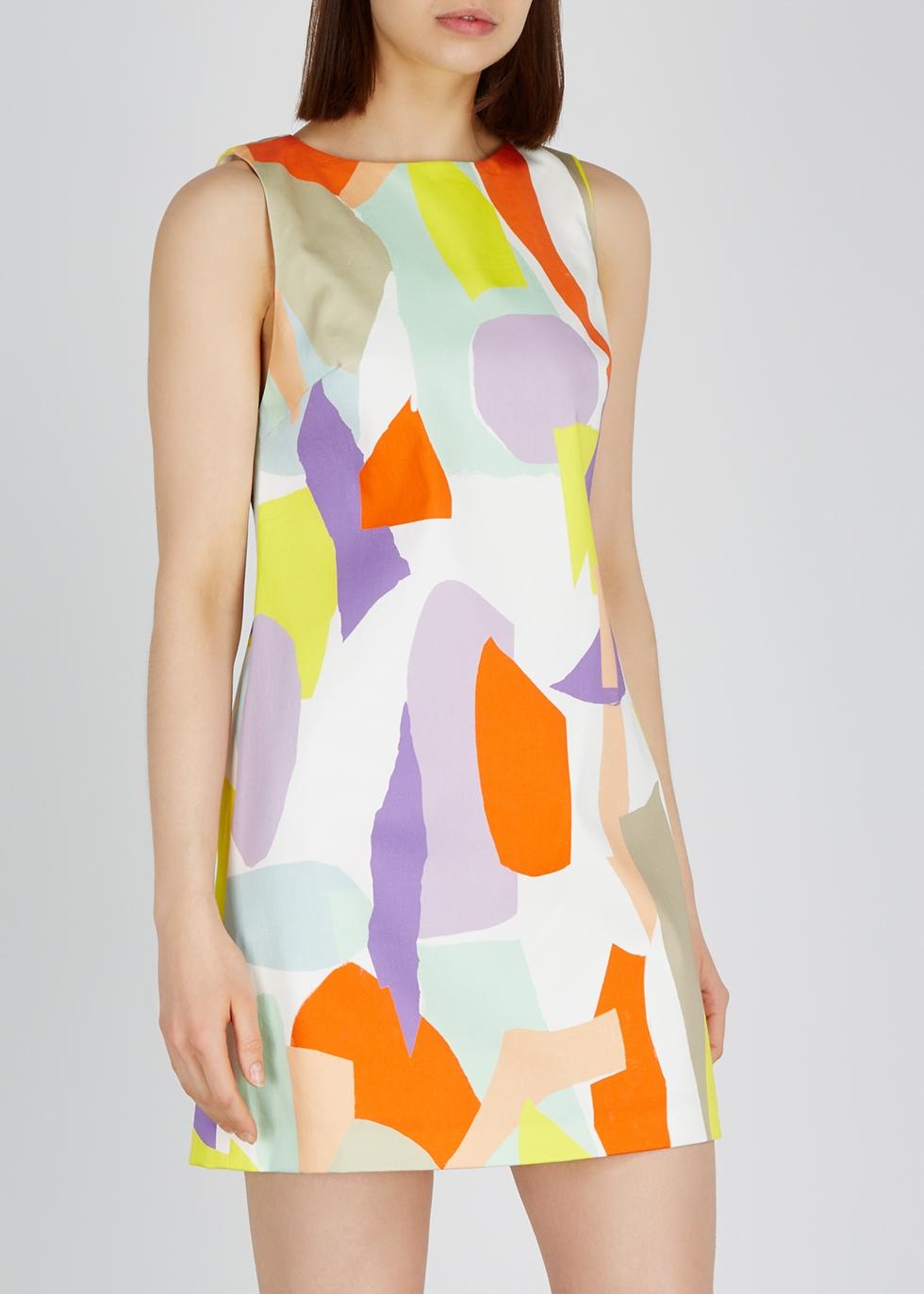 Clyde printed A-line mini dress - Alice + Olivia
