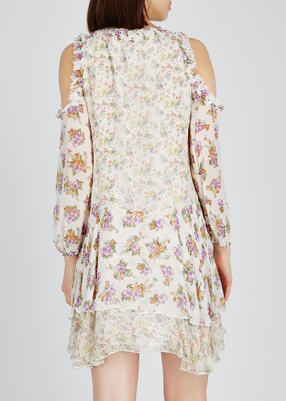 Glynda floral-print chiffon mini dress - Alice + Olivia