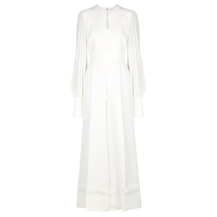 Roksanda Suits Aunya ivory cady and silk jumpsuit