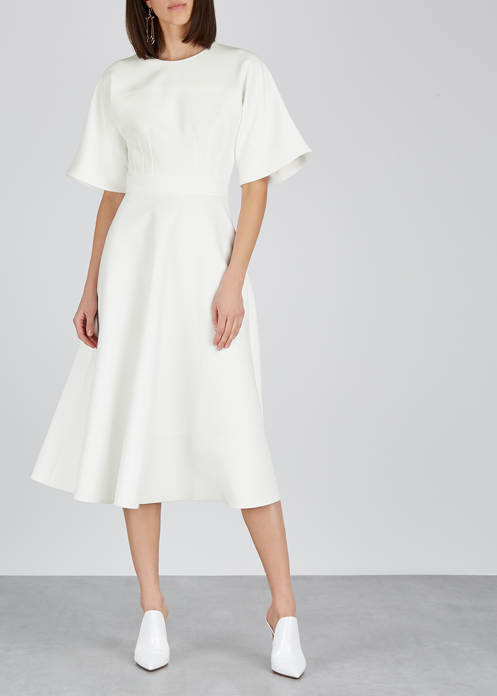 Maja ivory midi dress - Roksanda