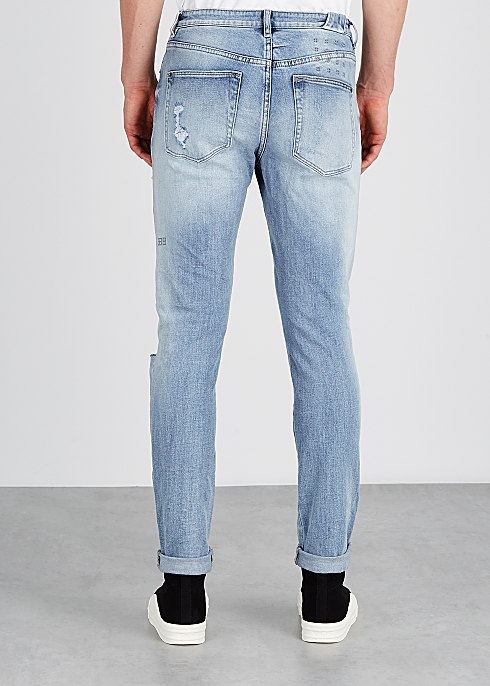 check out lowest discount great quality ksubi Chitch light blue distressed jeans - Harvey Nichols
