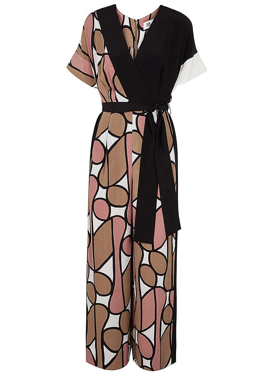 6163363ade990 Foye printed wide-leg silk jumpsuit Foye printed wide-leg silk jumpsuit. Diane  von Furstenberg