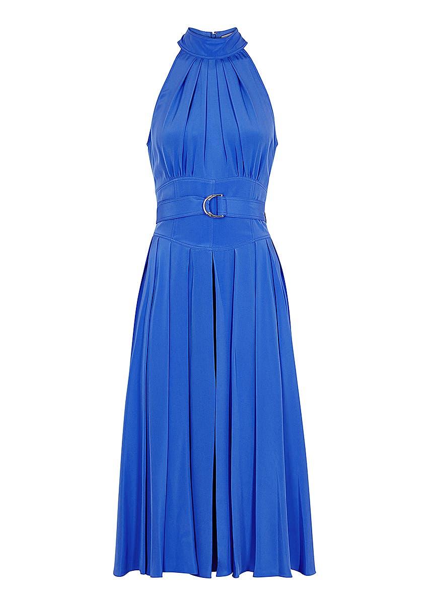 e717806812 Diane von Furstenberg. Hatsu black silk shirt dress. £360.00 · Nicola blue  silk midi dress ...