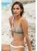St barths colour block bikini top taupe - Valimare