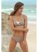 Martinique bandage colour block bikini top taupe - Valimare