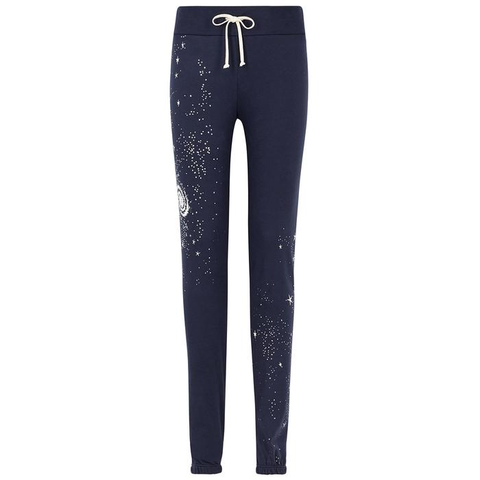 Wildfox Cosmic Dust Echo Printed Cotton Sweatpants