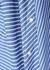 Jasmin striped off-the-shoulder twill shirt - palmer//harding