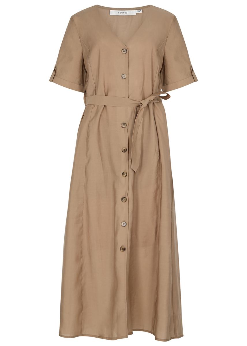 7d3bde898c8c Arienne sand midi dress ...