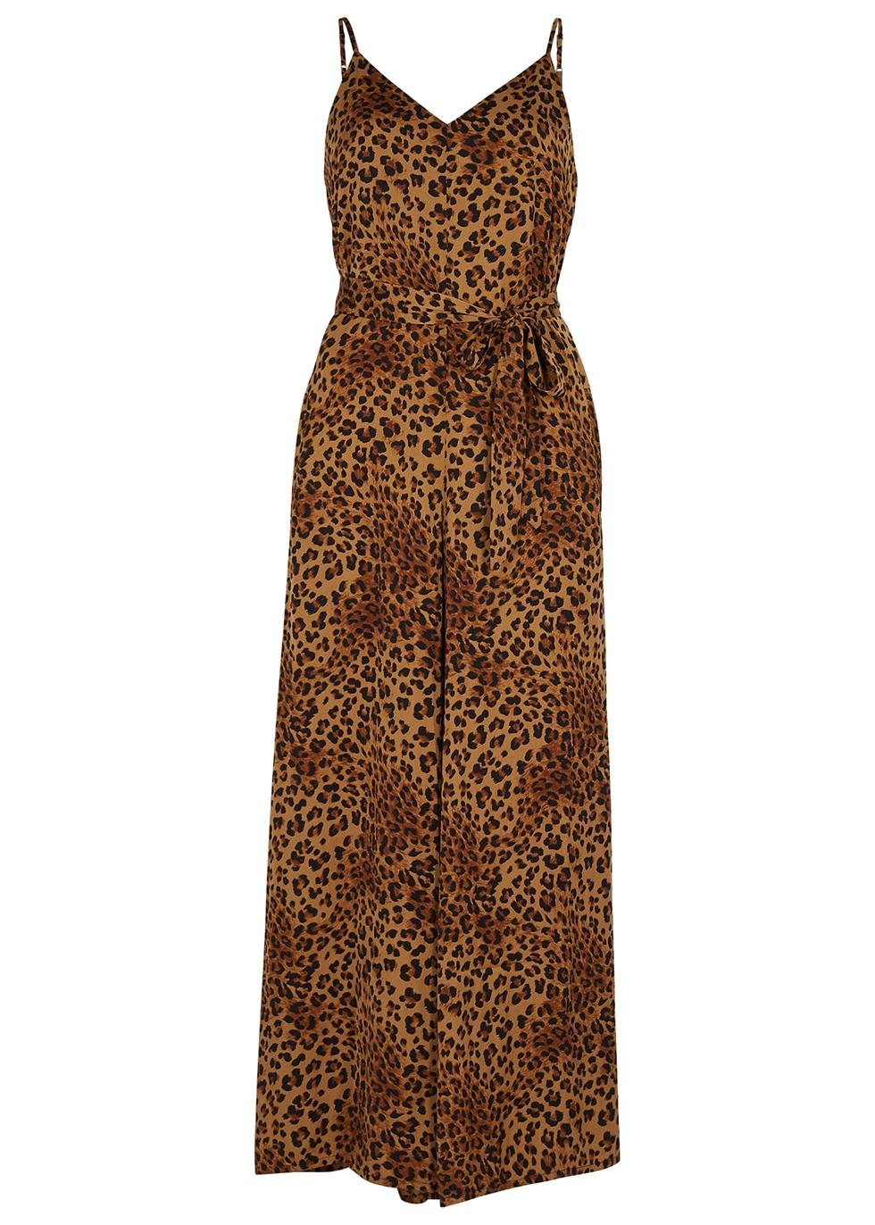 Jane leopard-print satin jumpsuit - Gestuz
