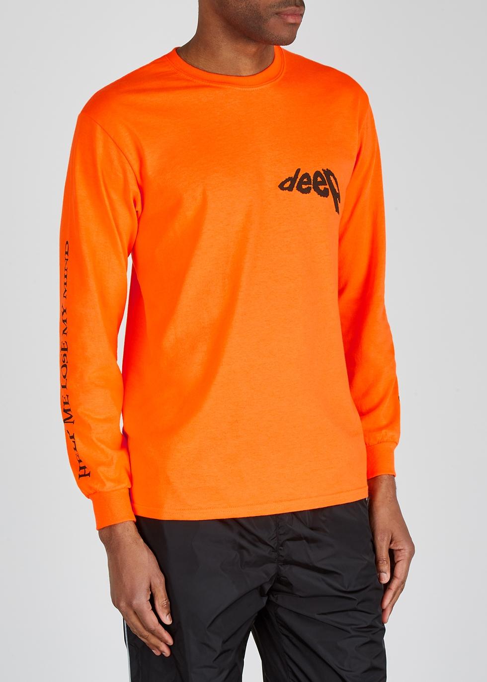 Neon-orange cotton T-shirt - Darkoveli