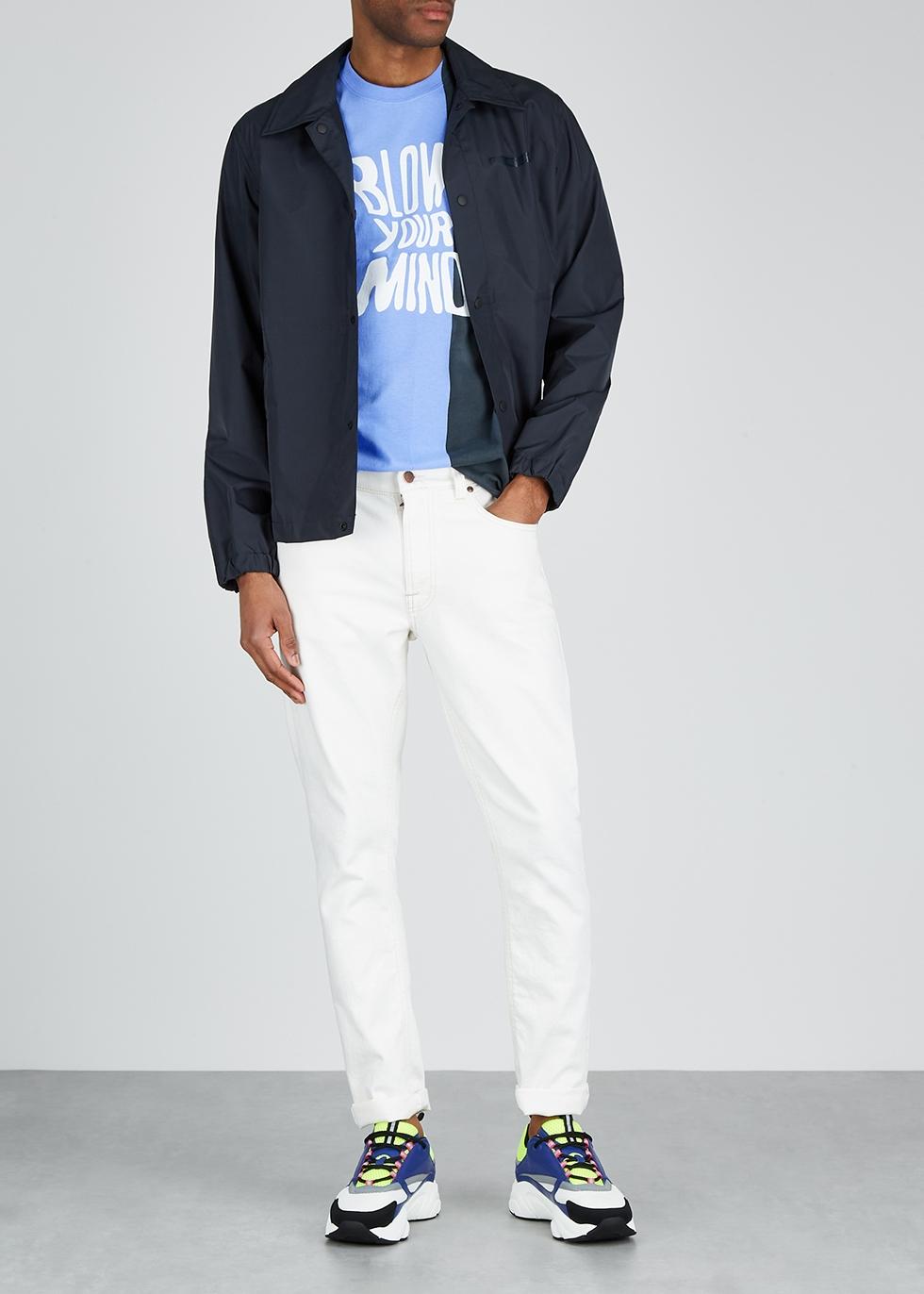 Blue printed cotton T-shirt - Darkoveli