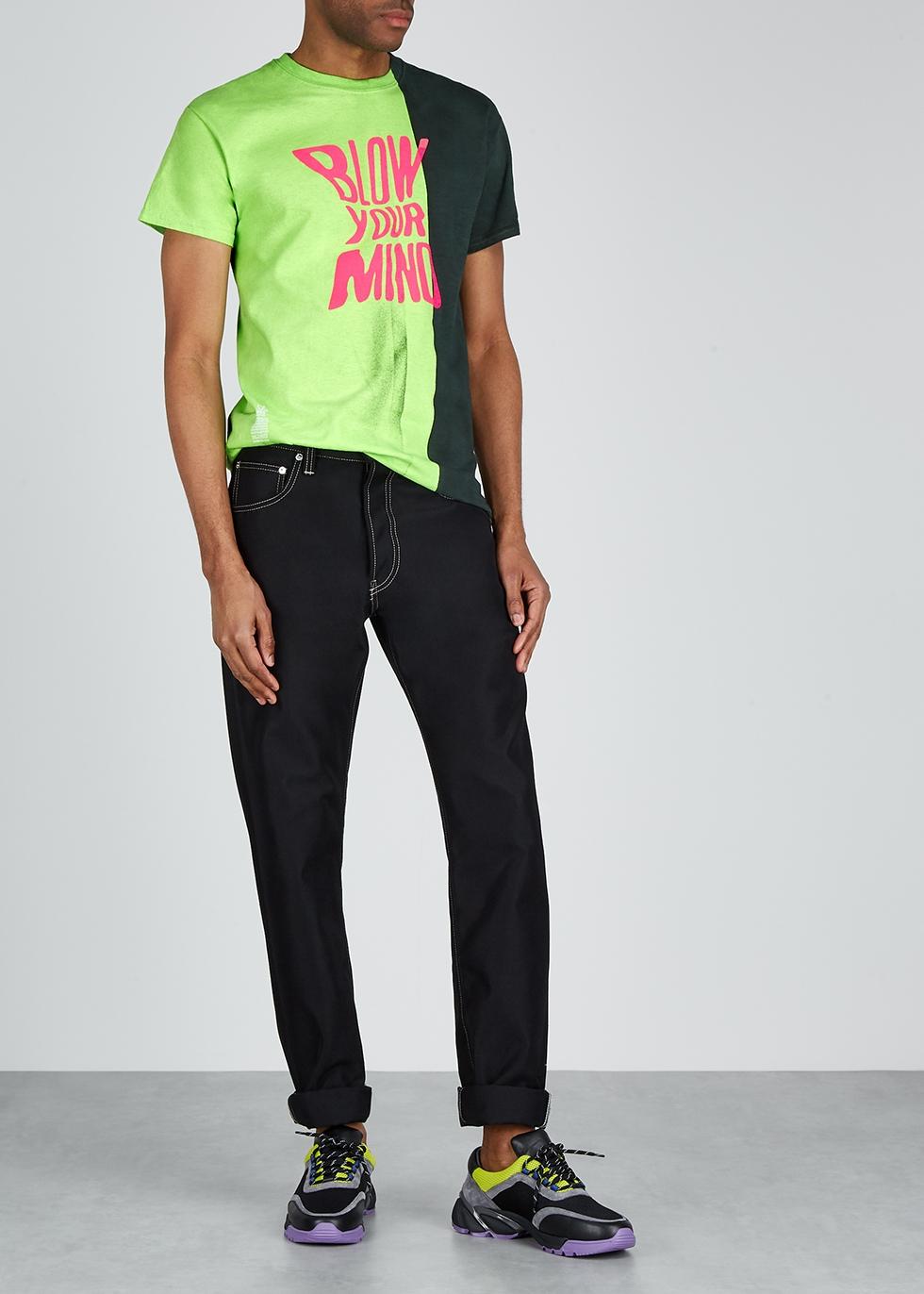 Green printed cotton T-shirt - Darkoveli