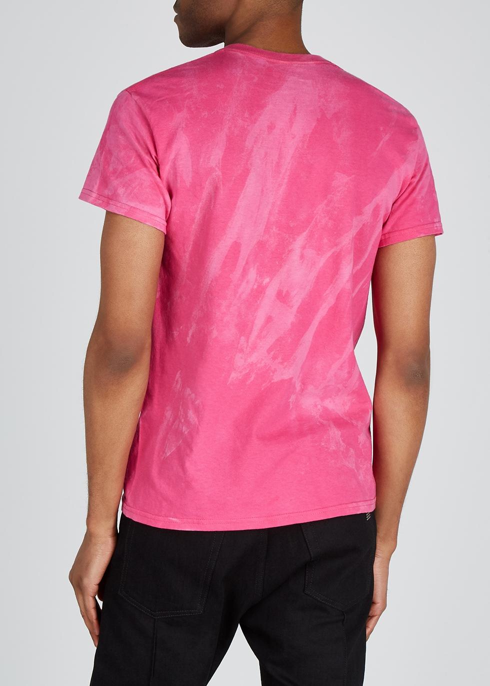 Pink printed cotton T-shirt - Darkoveli