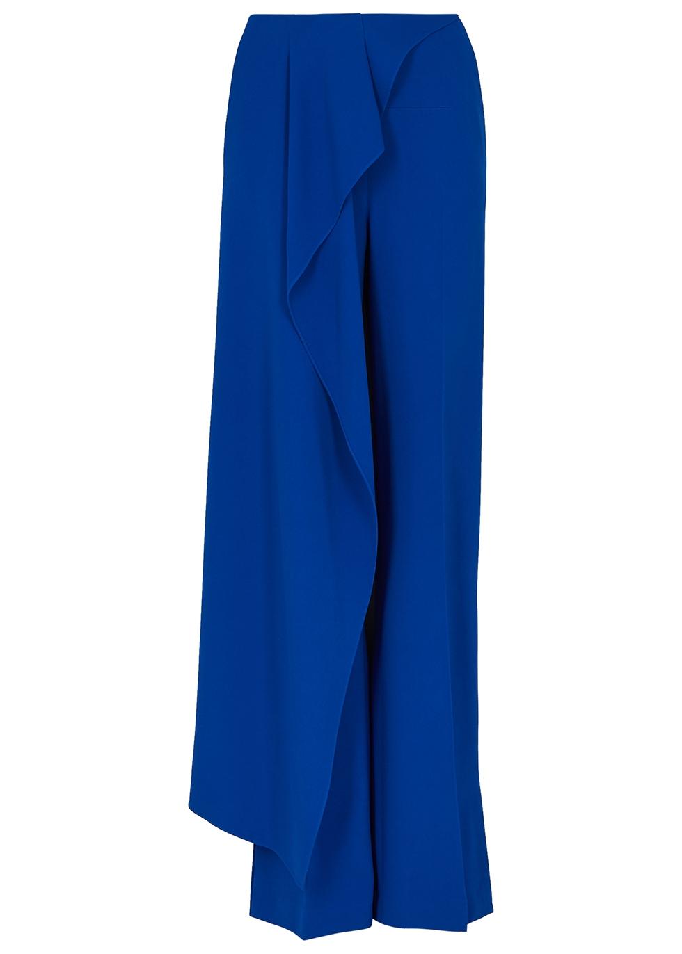 Griffith royal blue straight-leg trousers - Roland Mouret