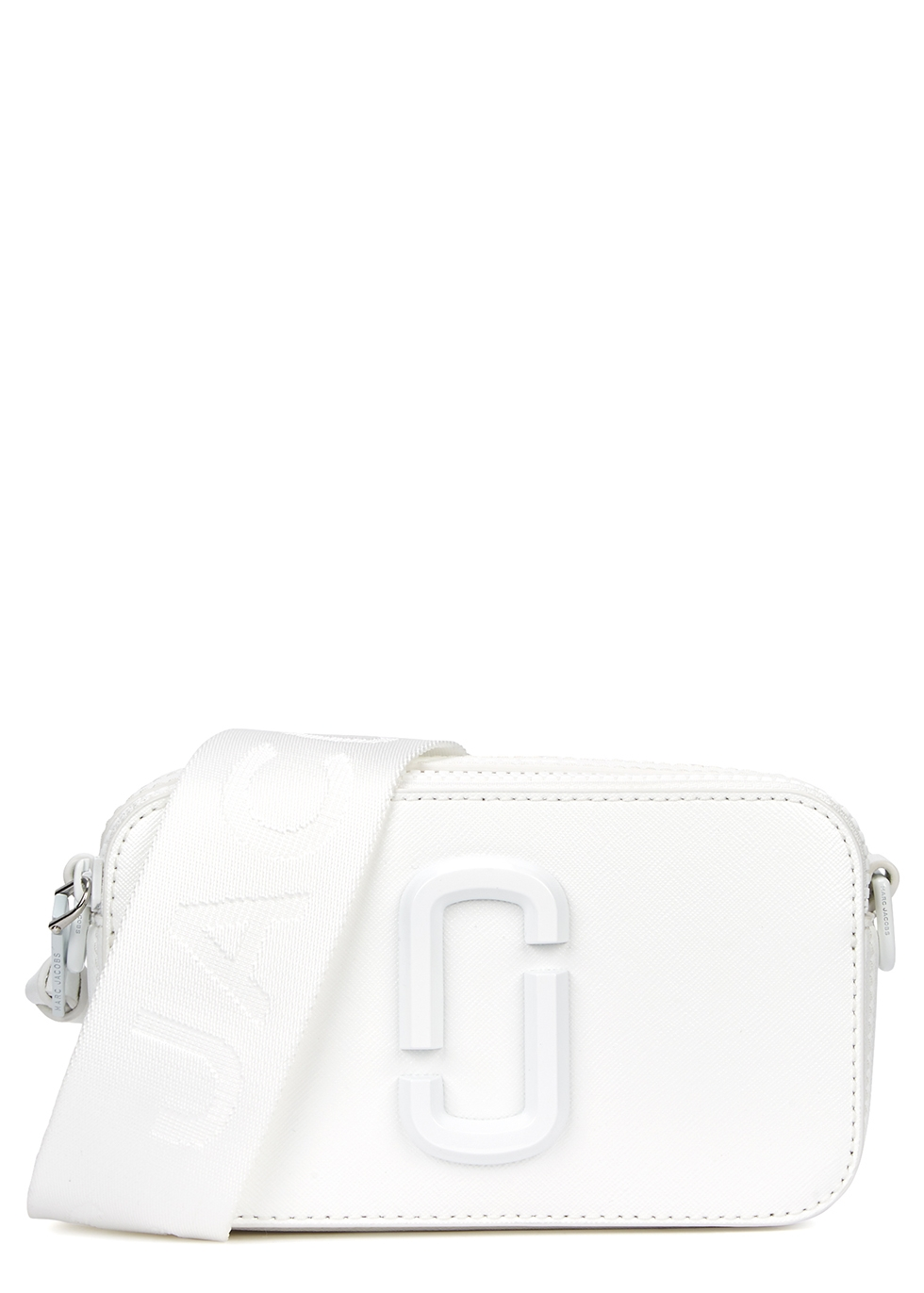 MARC JACOBS | Marc Jacobs Snapshot DTM White Leather Cross-Body Bag | Goxip