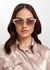 Gold-tone cat-eye sunglasses - Gucci