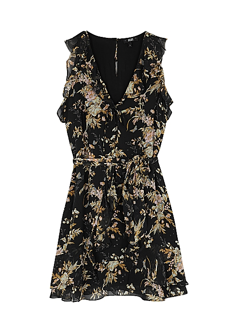 8f25d8980e6 Paige Tia floral-print silk georgette mini dress - Harvey Nichols
