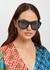 Teal oval-frame sunglasses - Kenzo