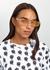 Pink rectangle-frame sunglasses - Kenzo