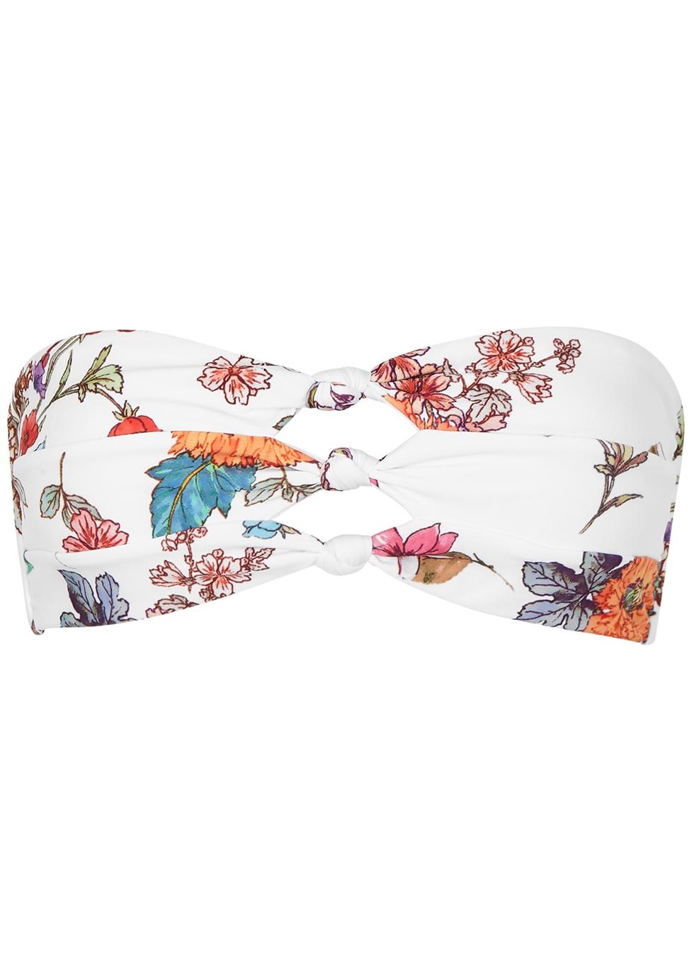PILYQ | PilyQ Wild Flower Bandeau Bikini Top | Goxip