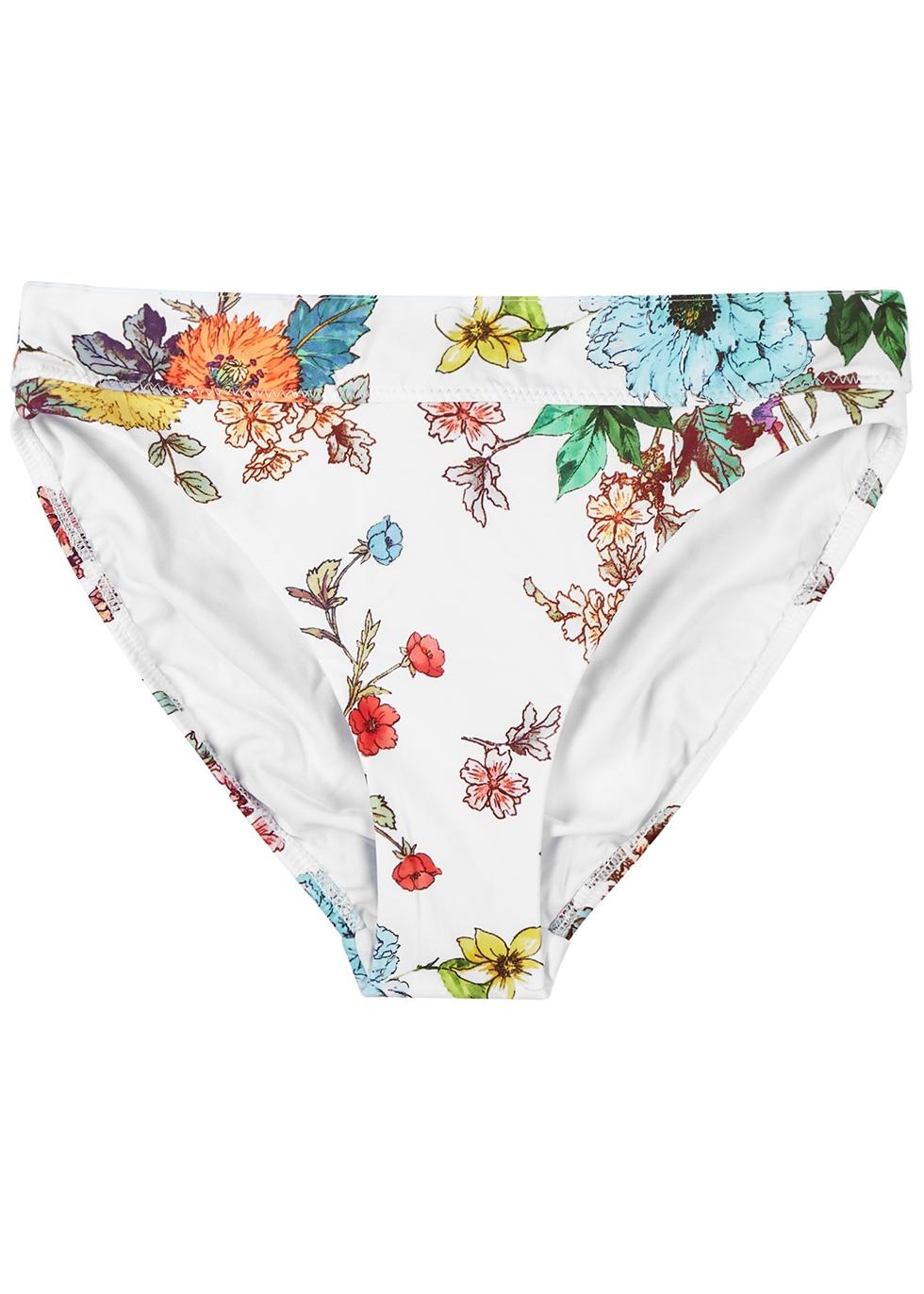 PILYQ | PilyQ Wild Flower High-rise Bikini Briefs | Goxip