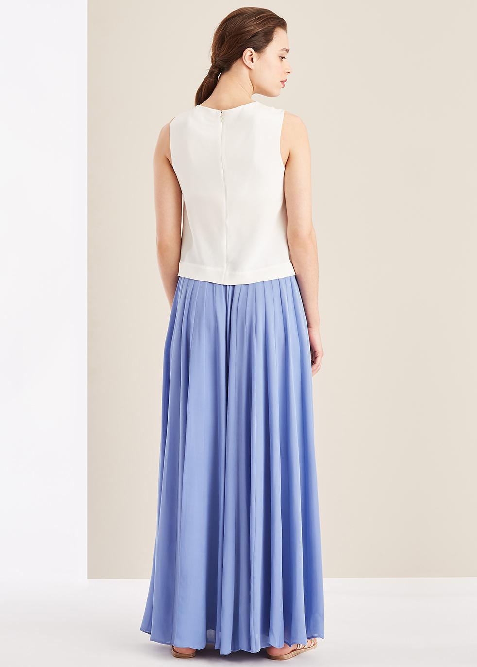 White silk sleeveless top - Varana