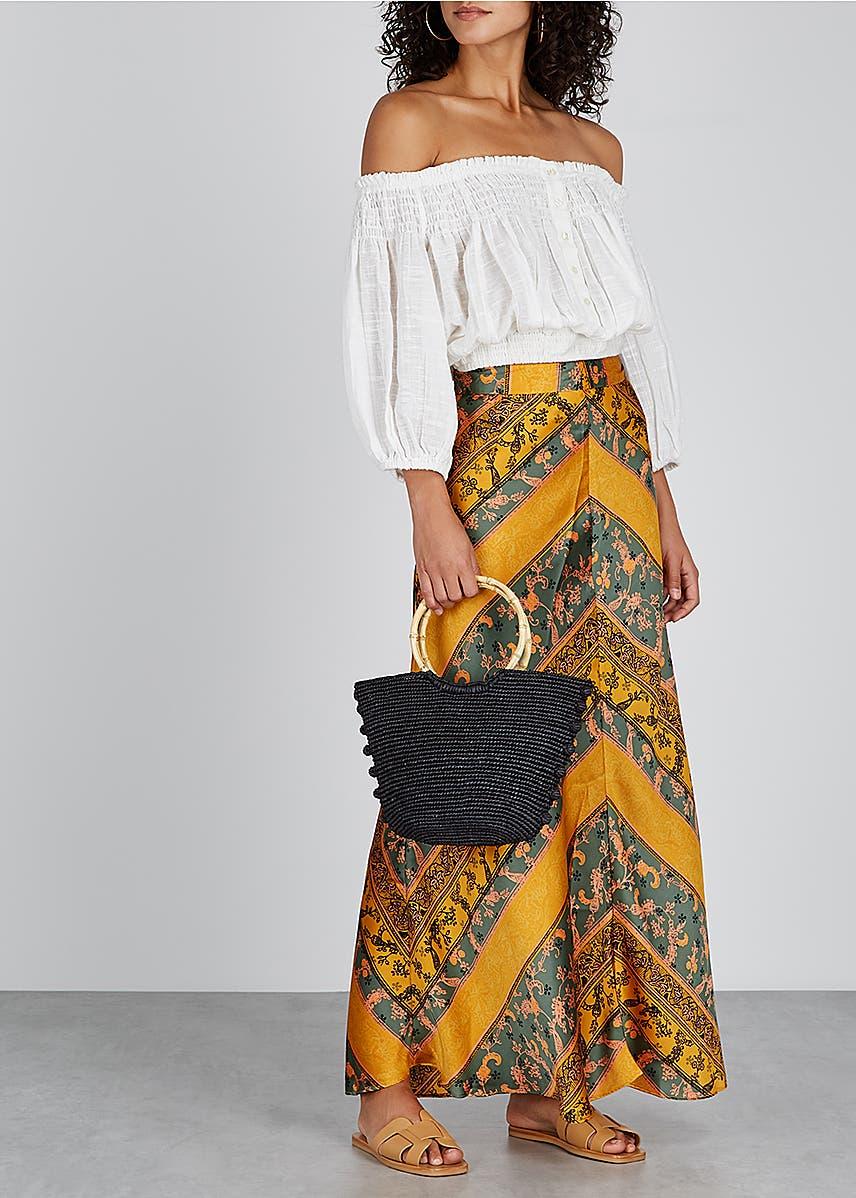 b5a1748d8b5f Rio printed satin maxi skirt Rio printed satin maxi skirt