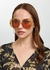 Carlina orange round-frame sunglasses - Chloé