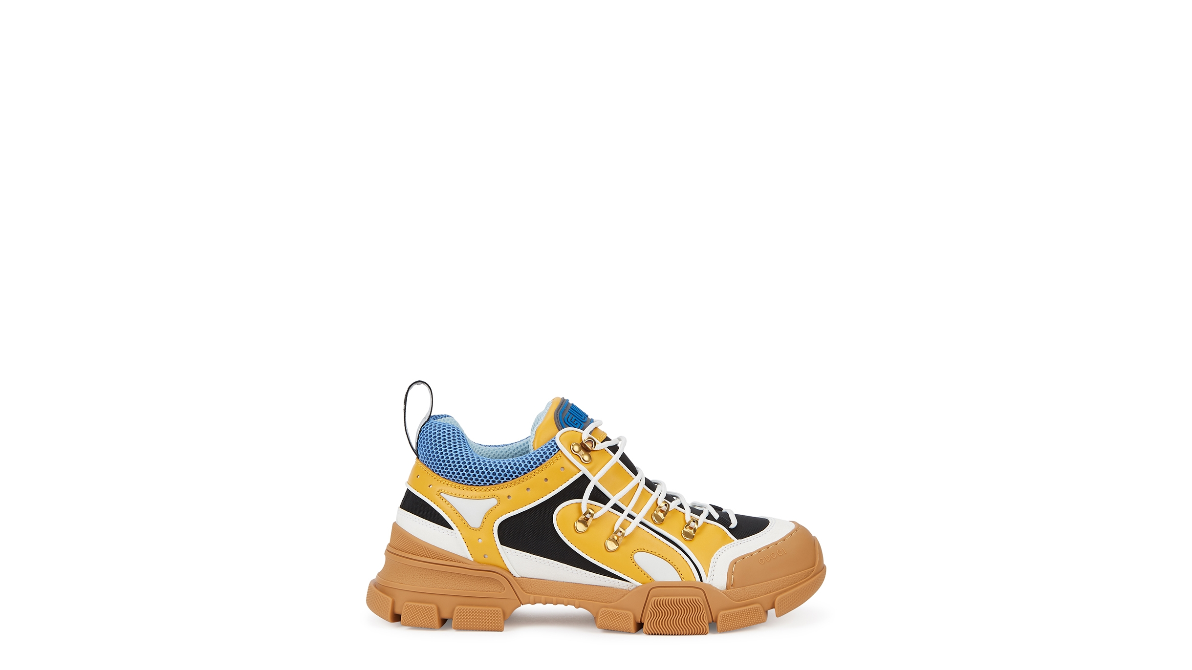 competitive price elegant shoes new style Flashtrek yellow panelled sneakers