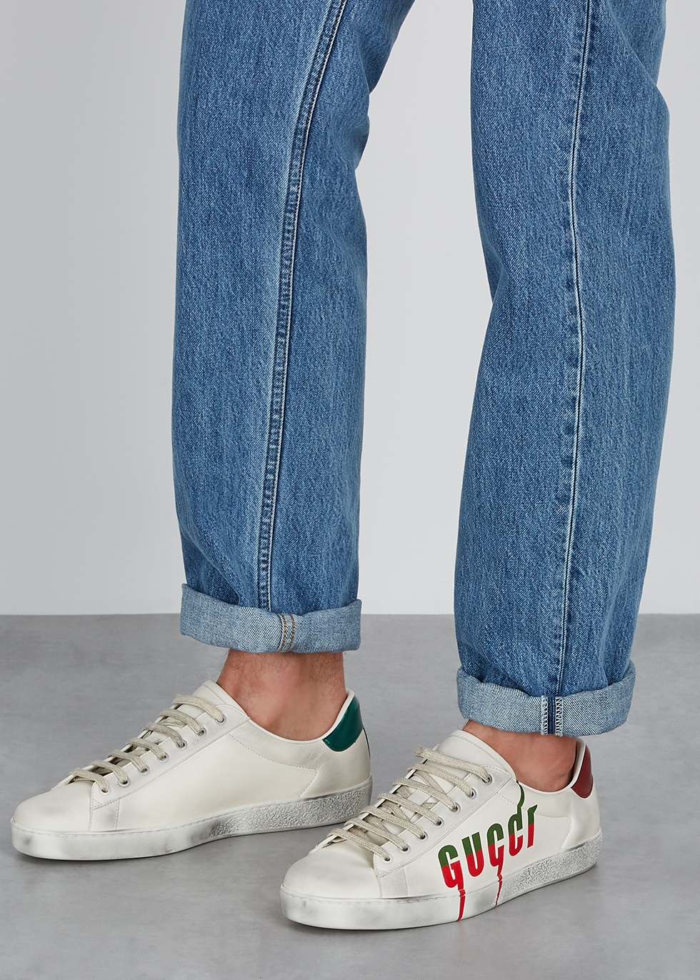 Gucci Ace white logo leather sneakers