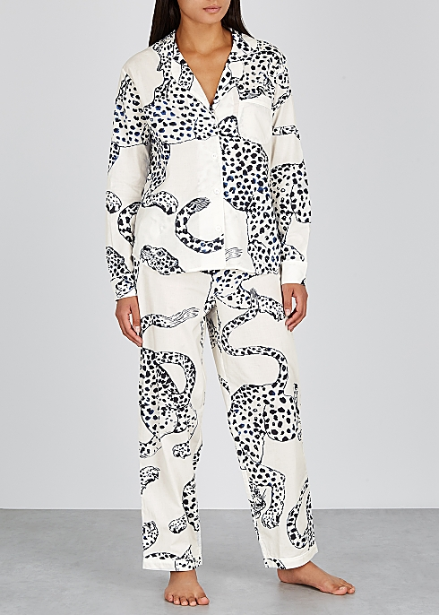 The Jag printed cotton pyjama set - Desmond & Dempsey