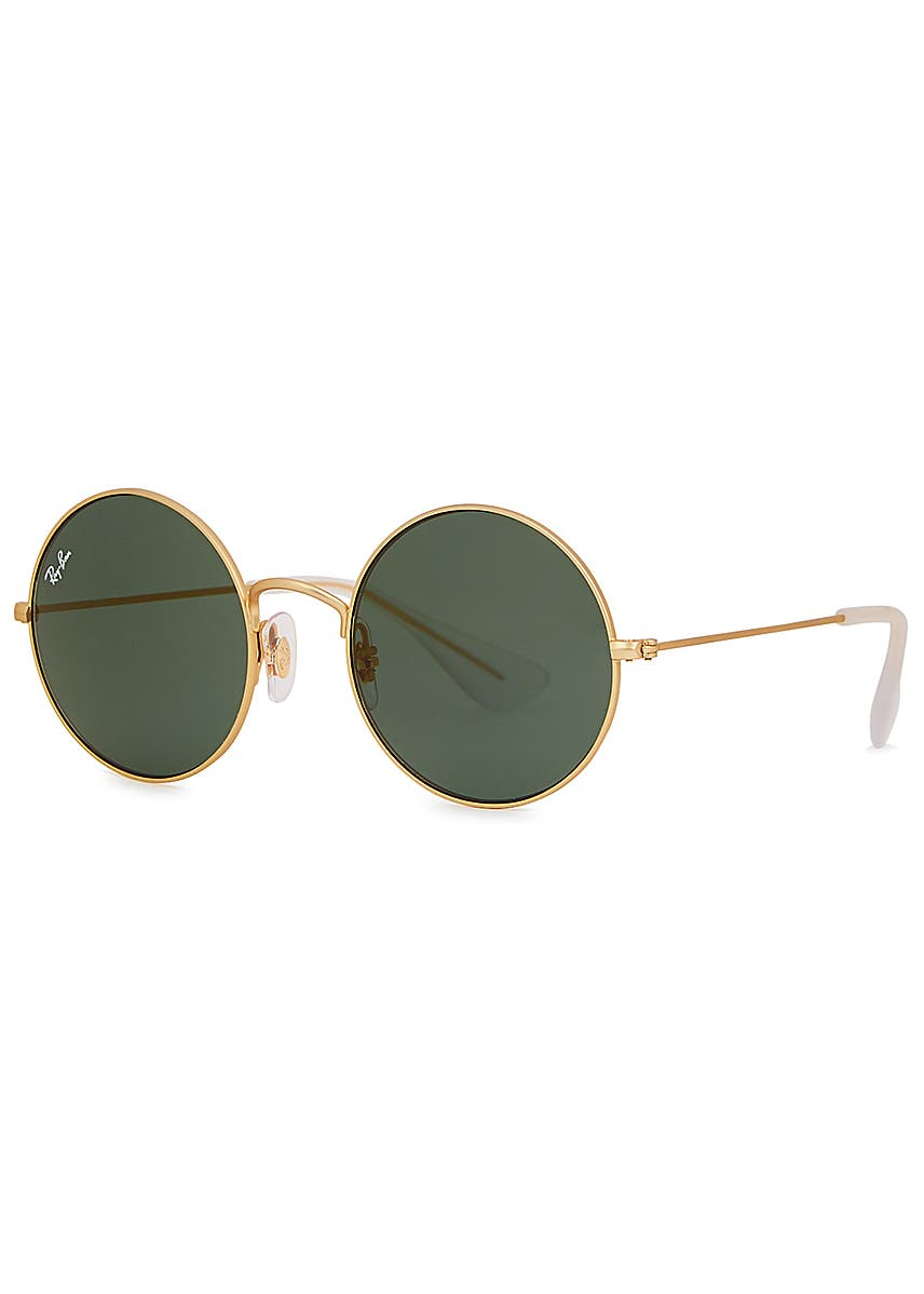 7b18f7fd1 Gold-tone round-frame sunglasses. Ray-Ban