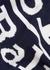 Navy logo-intarsia fine-knit scarf - Polo Ralph Lauren
