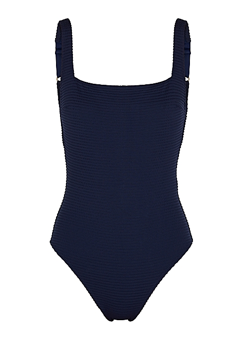 a8c55ff667e Heidi Klein Carlisle Bay navy lace-up swimsuit - Harvey Nichols