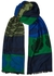 Green and blue tiger-jacquard scarf - Kenzo