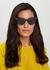 Navy cat-eye sunglasses - Bottega Veneta