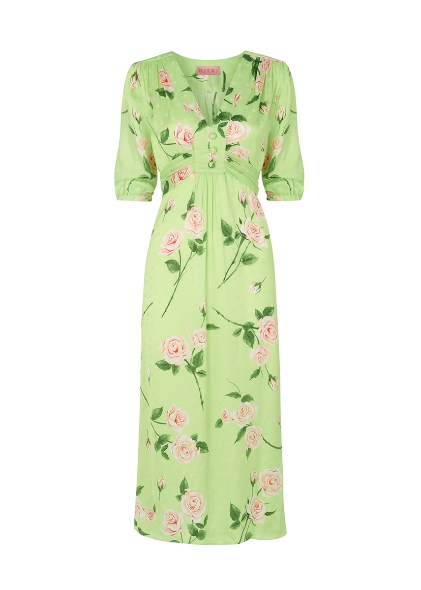 67edf936bc83b Minka rose print tea dress ...