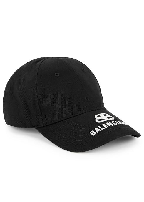 fda07b2beb7fc Balenciaga Black logo-embroidered twill cap - Harvey Nichols