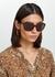 Tortoiseshell oversized sunglasses - Prada