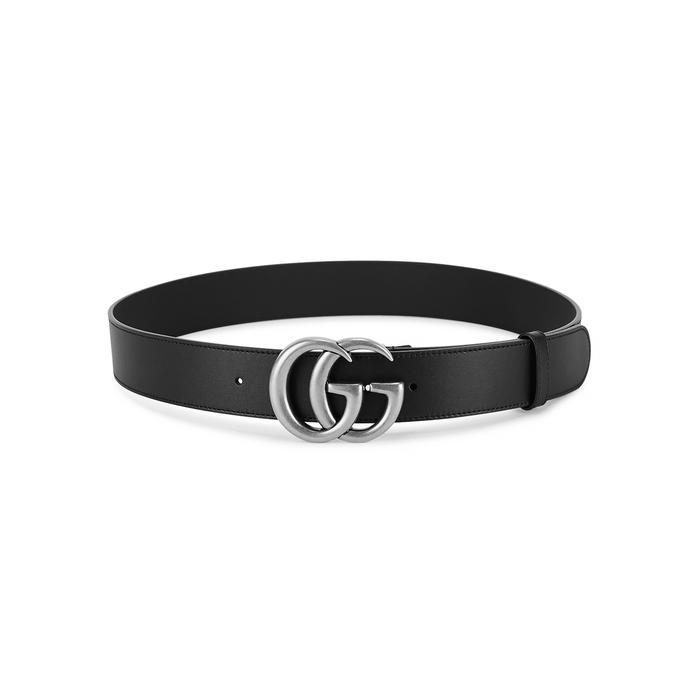 Gucci GG Black Leather Belt