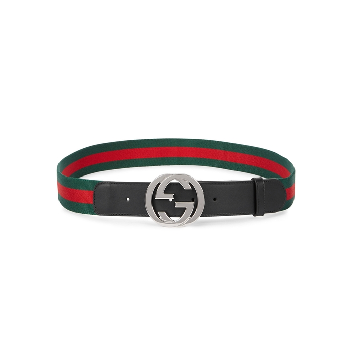 Gucci Signature-striped Webbing Belt
