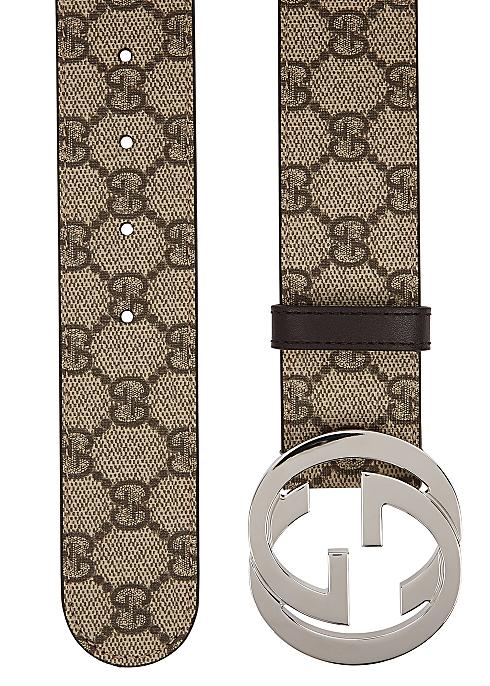 32e0366a3 Gucci GG Supreme monogrammed belt - Harvey Nichols