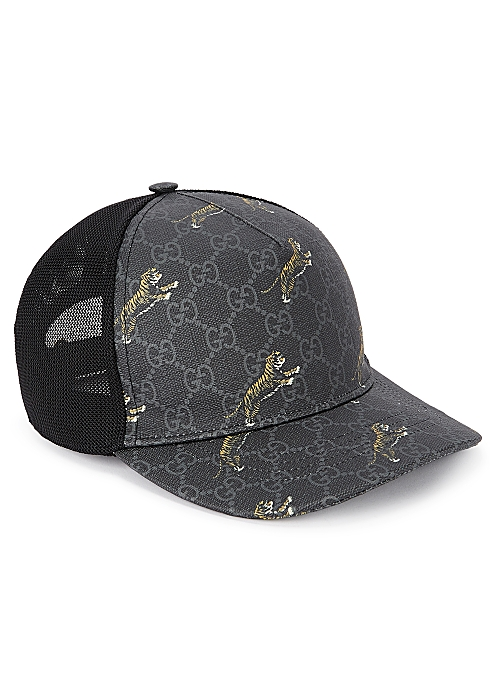 203e7ba93 Gucci GG Supreme tiger-print cap - Harvey Nichols