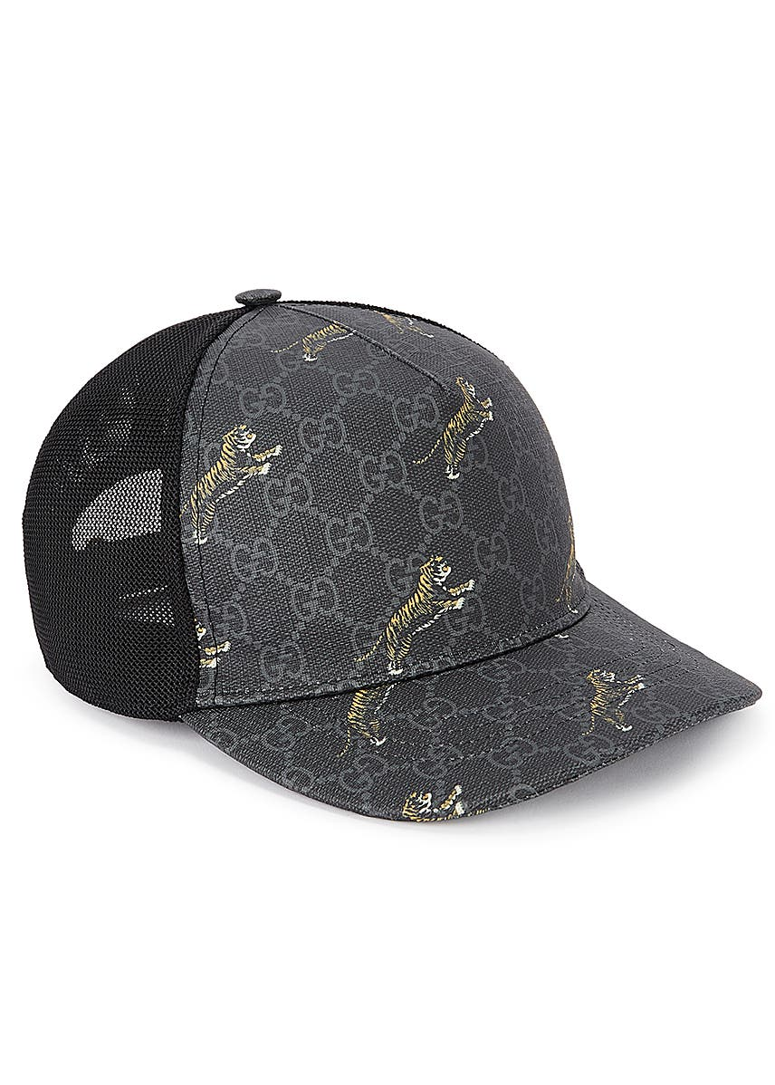 e0b5942e1e7ad8 GG Supreme tiger-print cap. New In. Gucci