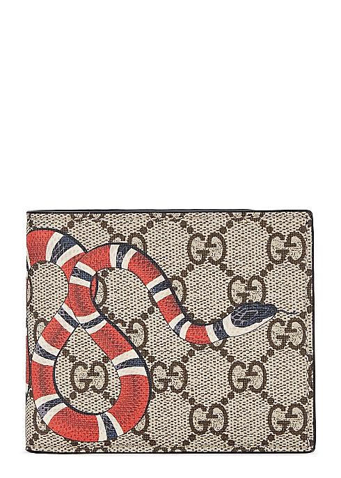 2949b003 Gucci GG Supreme Kingsnake wallet - Harvey Nichols